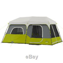 Core Equipment 9 Person Instant Cabin 14x9' Easy Setup Outdoor Camping Dome Tent