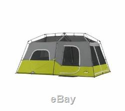 Core Equipment 9 Person Instant Cabin Tent, Green/Gray, 14 x 9 ft