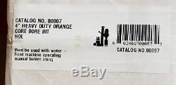 Diamond Products 00007 4 Heavy Duty Orange Wet Core Bit