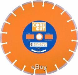 Diamond Products Core Cut 11828 12 x 0.110 x 1Heavy Duty Orange Dry Wet Blade
