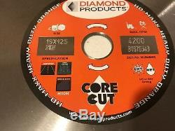 Diamond Products Core Cut 18 Heavy Duty Orange High Speed Diamond Blade Dry/Wet
