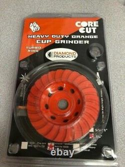 Diamond Products Core Cut 26060 4-Inch by 7/8-Inch Heavy Duty Turbo Cup Grinder