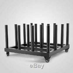 Digital Media Vinyl Cart Mobile Rack 16-Roll Capacity 2 Core Heavy Duty