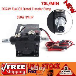 Electric Heavy Duty Fuel Oil Diesel Transfer Pump Full Copper Core 70L/Min DC24V