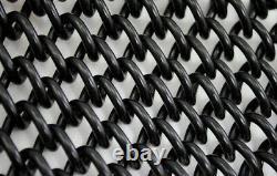 Fence chainlink, 1 diamond, 8ft tallx25ft roll, 9 gauge core 8 gauge finish BLK