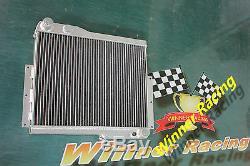 Fit Mg Mgb Gt V8 1973-1976 1975 Hi-flow Heavy-duty Core Aluminum Radiator 56mm