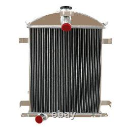 For 1928-1929 Ford Heavy Duty Model A 3.3L L4 3 Rows Core Aluminum Radiator