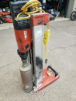 HILTI DD-130 Diamond Core Drill Rig 3 Speed Drill (HeavyDuty) and Rig Stand &bit