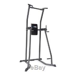 Heavy Duty Dip Station Power Tower Pull Push Chin Up Bar Home Gym Fitness Core