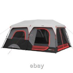 Instant Cabin Tent 10 Person Camping Family Shelter Built-In LED Lighting System