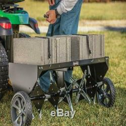 Lawn Aerator Core Plug Aerator Tow Behind Tractor Mower Heavy Duty USA NEW