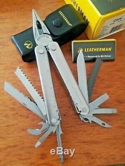 Leatherman Core MultiTool -Rare Leather Sheath- Heavy Duty Retired