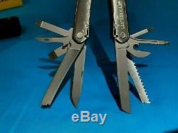 Leatherman Core MultiTool -Rare Leather Sheath- Heavy Duty Retired Multi-Tool