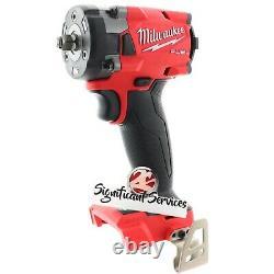 Milwaukee 2854-20 M18 18V 3/8 Li-Ion Drive Fuel Stubby Impact Wrench Bare Tool