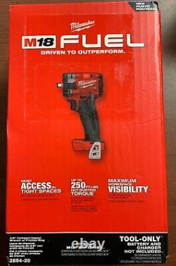 Milwaukee 2854-20 M18 3/8 Stubby Impact Wrench with Friction Ring TOOL ONLY