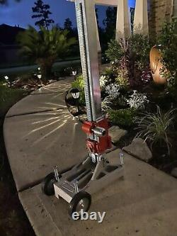 Milwaukee Diamond Coring Rig model 4130 Dymo-Rig stand designed for heavy duty