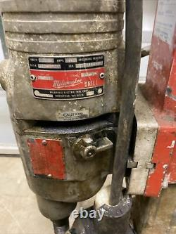 Milwaukee Heavy Duty Dymodrill #4035 Core Drill Bore Rig withstand & 6 Bits 8184A