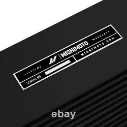 Mishimoto Universal Heavy-Duty Oil Cooler 10 Core, Opposite-Side Outlets, Black