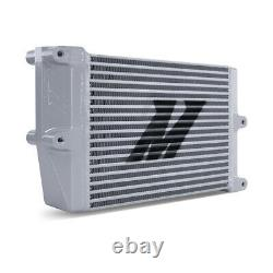 Mishimoto Universal Heavy-Duty Oil Cooler 10 Core Opposite-Side Outlets, Silver