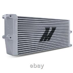 Mishimoto Universal Heavy-Duty Oil Cooler 17 Core Opposite-Side Outlets, Silver