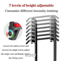 Power Tower Heavy Duty Adjustable Dip Station Chin Pull Up Bar Push Core Fitness