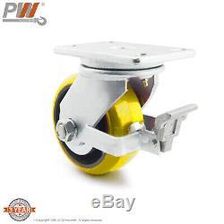 ProWinch 2 ton 4400lb 8 in Heavy Duty Polyurethane Tread Cast Iron Core Swive