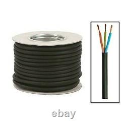 Rubber Cable Flex 2.5mm x 3Core H07RN-F H07RNF Heavy Duty Outdoor Extension Lead