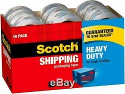 Scotch Heavy Duty Shipping Packaging Tape, 1.88 x 54.6 Yards, 3 Core, Clear