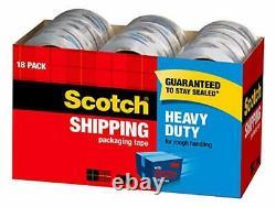 Scotch Heavy Duty Shipping Packaging Tape 1.88 x 54.6 Yards 3 Core Clear Gr
