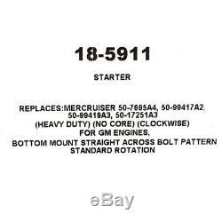 Sierra Boat Heavy Duty Starter 18-5911 Replaces Mercruiser No Core