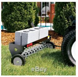 Spike Aerator Core Heavy Duty Tow Behind Transport Wheel Outdoor Power Equipment