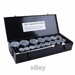 Steel Core 21 pc 1 inch Drive Heavy Duty Jumbo Socket Set with Steel Case