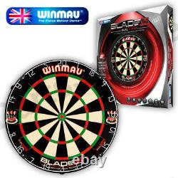 Winmau Blade 5 Dual Core Dartboard & Heavy Duty Plain Black Surround
