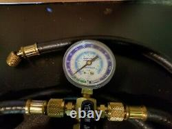 Yellow Jacket Heavy Duty Charging Hoses With Core Pullers & Digital Vacuum Gage